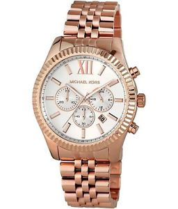【送料無料】** michael kors lexington watch mk8313 ladies mens rose gold chronograph
