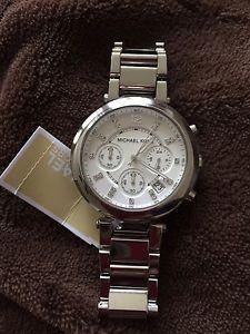 michael kors mk5275 parker silver bracelet chrono watch