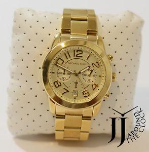 【送料無料】 michael kors ladies gold tone mercer runway braclet chronograph watch mk5726