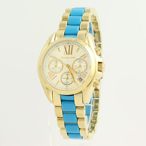 michael kors mini bradshaw wristwatch  gold plated stainless steel mk5908