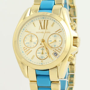 michael kors mini bradshaw wristwatch  gold plated stainless steel mk5908
