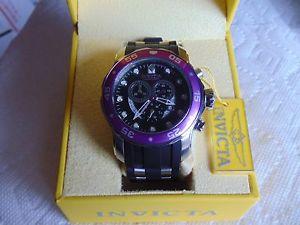 【送料無料】invicta 48mm pro diver scuba chronograph stainless steel watch must see