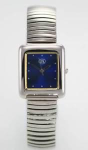 【送料無料】a casino blue womens stainless silver stretch quartz battery watch