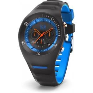 orologio uomo ice watch leclercq ic014945 chrono silicone nero blu 100mt
