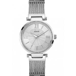 guess womens soho 365mm steel bracelet amp; case quartz analog watch w0638l1