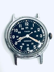 【送料無料】antique original 1966 timex marlin men's manual military army wrist watch