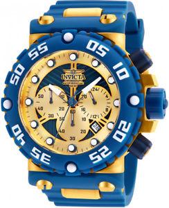 【送料無料】invicta mens subaqua chrono 100m stainless steeblue polyurethane watch 25013