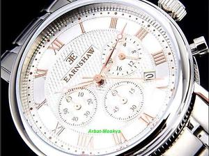 thomas earnshaw mens beaufort collection chronograph ss luxury watch