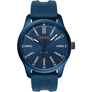 【送料無料】boss orange dublin herrenuhr 1550046 analog silikon dunkelblau