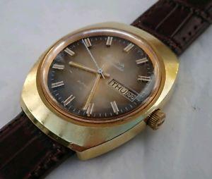 【送料無料】stunning vintage 1970s bulova ambassador automatic daydate wrist watch