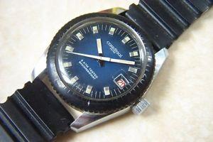 【送料無料】a cardinal divers calender manual wind wristwatch cmid 1970s