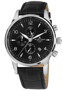【送料無料】jacques lemans herrenuhr chronograph london chrono 11844za