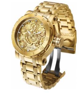 【送料無料】 mens invicta 26511 coalition forces automatic 52mm gold s steel watch