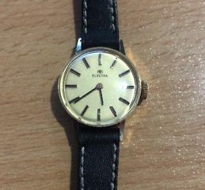 【送料無料】electra montre ancienne en or massif electra  18k gold watch