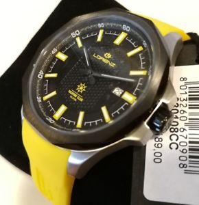 【送料無料】orologio uomo lorenz,automatico,yachting club,cinturino silicone,43 mm,100 mt,
