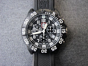 【送料無料】almost unused luminox 3080 swiss made chronograph watch   working properly