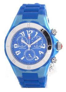 【送料無料】michele tahitian jelly bean chronograph blue watch, brand with tags and case