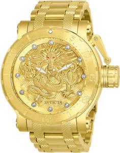 【送料無料】invicta mens coalition forces automatic 100m gold tone s steel watch 26511