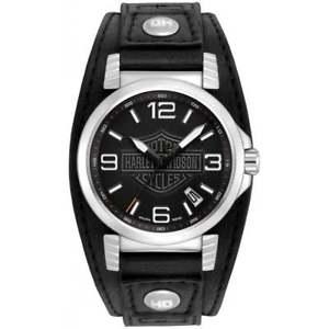 【送料無料】harley davidson 76b163 mens strap wristwatch