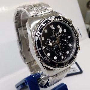 orologio festina f16564c crono ghiera quadrante nero cinturino acciaio uomo