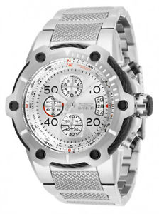 【送料無料】invicta mens bolt quartz chrono 100m stainless steel watch 28024