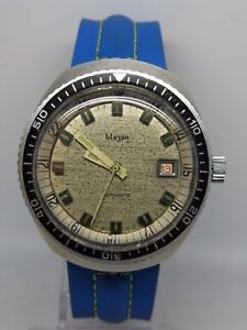 【送料無料】montre de plonge automatique blazon mouvement eta 2783 vintage 1970