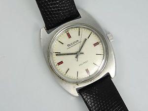 【送料無料】vintage ssteel bulova oceanographer 333 feet 17j watch * working