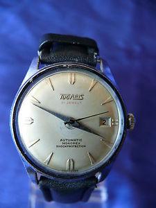 【送料無料】rare vintage mens tugaris swiss automatic 21 jewels wrist watch