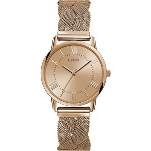 【送料無料】orologio guess maiden w1143l3 watch maglia intrecciata donna 36 mm oro rosa