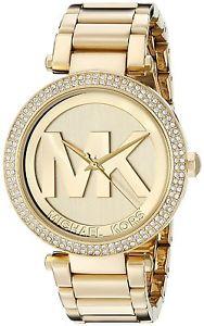 【送料無料】orologio da donna michael kors collezione parker mk5784 acciaio dorato