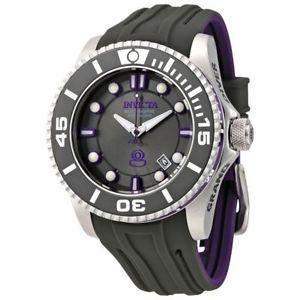 【送料無料】 mens invicta 20201 pro diver automatic grey rubber strap watch