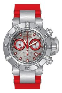 【送料無料】 mens invicta 19893 subaqua noma ocean quest swiss chronograph red watch