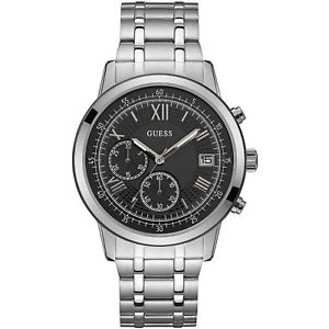 【送料無料】orologio guess summit w1001g4 watch acciaio uomo cronografo 44mm nero nuovo