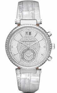 【送料無料】** michael kors mk2443 ladies crystals silver sawyer watch 2 years warranty