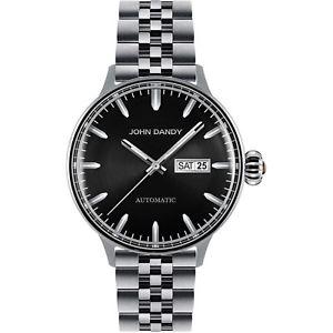 【送料無料】orologio john dandy watch jd 2571m07m uomo data giorno automatico vetro bombato