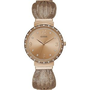 【送料無料】orologio guess chiffon w1083l3 watch acciao rosa cristalli donna 36 mm mesh