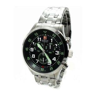 【送料無料】orologio cronografo uomo swiss military 0652630400706 cinturino in acciaio