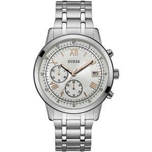 【送料無料】orologio guess summit w1001g1 watch acciaio uomo cronografo 44mm silver