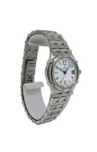 【送料無料】bulova 63m08 womens round analog date guilloche stainless steel watch