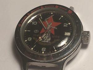 【送料無料】vintage russian boctokvostok cccp auto ussr soviet military scuba diver 200m
