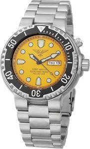 【送料無料】army watch 100atm taucher heliumventil saphirglas tagamp;datum gelb herrenuhr ep843