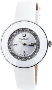 【送料無料】 swarovski 5080504 octea dressy pave white leather strap crystal watch