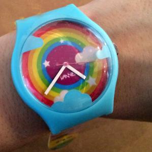 【送料無料】tado vannen watch wristwatch daydream outsider art rare limited signed rainbows