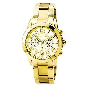 【送料無料】michael kors mk5726 womens mercer chrono gold tone steel watch