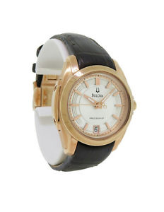 【送料無料】bulova precisionist 97m104 womens round analog date rose gold tone watch