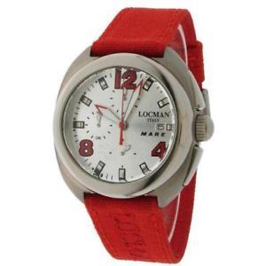【送料無料】orologio locman mare 013300ag0005cor chrono cordura rosso titanio 100mt 39mm