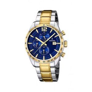 【送料無料】orologio cronografo uomo festina in acciaio f167612