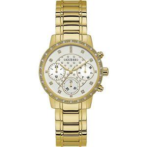 【送料無料】orologio guess sunny w1022l2 watch multifunzione donna zirconi 37 mm oro dorato