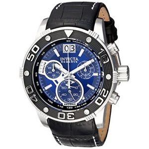 【送料無料】invicta reserve 17374 leather chronograph watch
