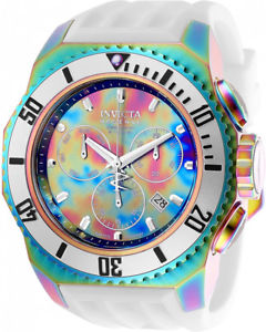 invicta mens russian diver quartz chrono rainbow plating s steel watch 25735
